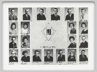 Class of 1962 - Wendell Conrad, Norman Anderson, Terry Stull, Arlyn North, Dwight Eisenhour, Kenneth Grumbein, Norma Schuckman, <br>Claudine Rein, Judy Gaschler, Glenda Herdman, Roy Jones, Carol Davis, Vicky Irvin, David Norlin, Mrs. Helen Elias, Sponsor, <br>Tena Vogle, Bill Green, Dennis Walker, Rick Barber, Marilyn Higgins, Jerry Richolson.<br><br>Terry Stull is deceased