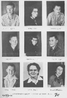 Juniors in 1953 Those who didn't graduate were Maurice Higgins and Joe Jennings.  Violet Meats was a teacher.