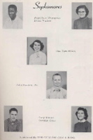 Sophmores 1954 Those not graduating were Augustine Thompson, Gary Moses.