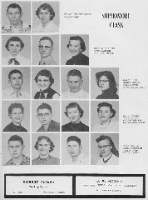 Sophomores 1956 Gary Sam Oller, Perry J. Irvin, Billy Wierman, Carla Rodeman did not graduate